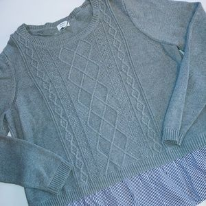 Crown & Ivy Gray Knit Sweater XL